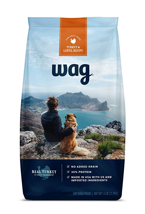 Amazon Brand - Wag Dry Dog Food Trial Size, No Added Grain, 5 Lb. Bag